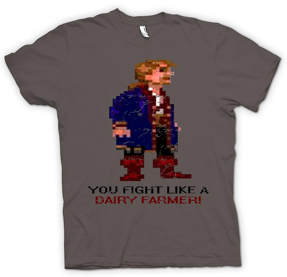 Womens T-shirt - You Fight Like A Dairy Farmer - Monkey Island Inspired