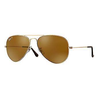 Ray-Ban Aviator Classic Gold Polarized Sunglasses - RB3025-001/57-58