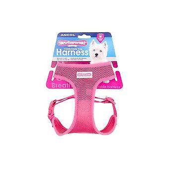 Bekväm hund sele rosa - XS 28-40cm bröst