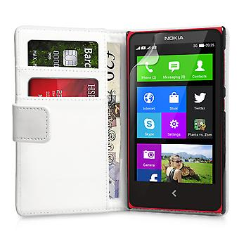 YouSave Accessories Nokia X LeatherEffect Wallet Case White