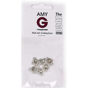 The Edge Nails Amy G - 3D Nail Art Nail Jewels - Crystal Cross (6 PCS) (3003049)