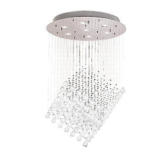 Diyas Colorado Pendant Diamond 7 Light Polished Chrome/Crystal