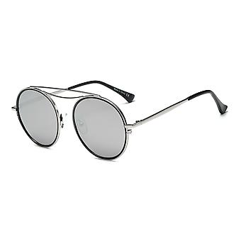 Fairfax | ca10 - polarized circle round brow-bar fashion sunglasses