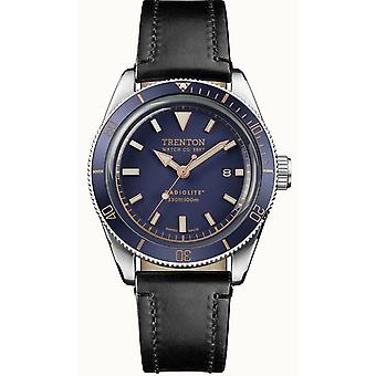 Ingersoll Limited Edition Trenton Blue Dial Black Leather Strap Quartz Mens Watch T07601