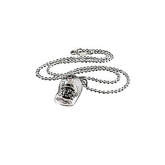 Pendant with chain Stainless Steel Ed Hardy Skull Cap