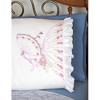 Stamped Ruffled Edge Pillowcases 30