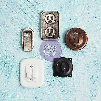 Junkyard Findings Metal Embellishments Switches & Outlets 5 Pieces Jyf8 92272