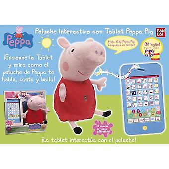 Bandai Interactive Stuffed With Tablet Peppa Pig