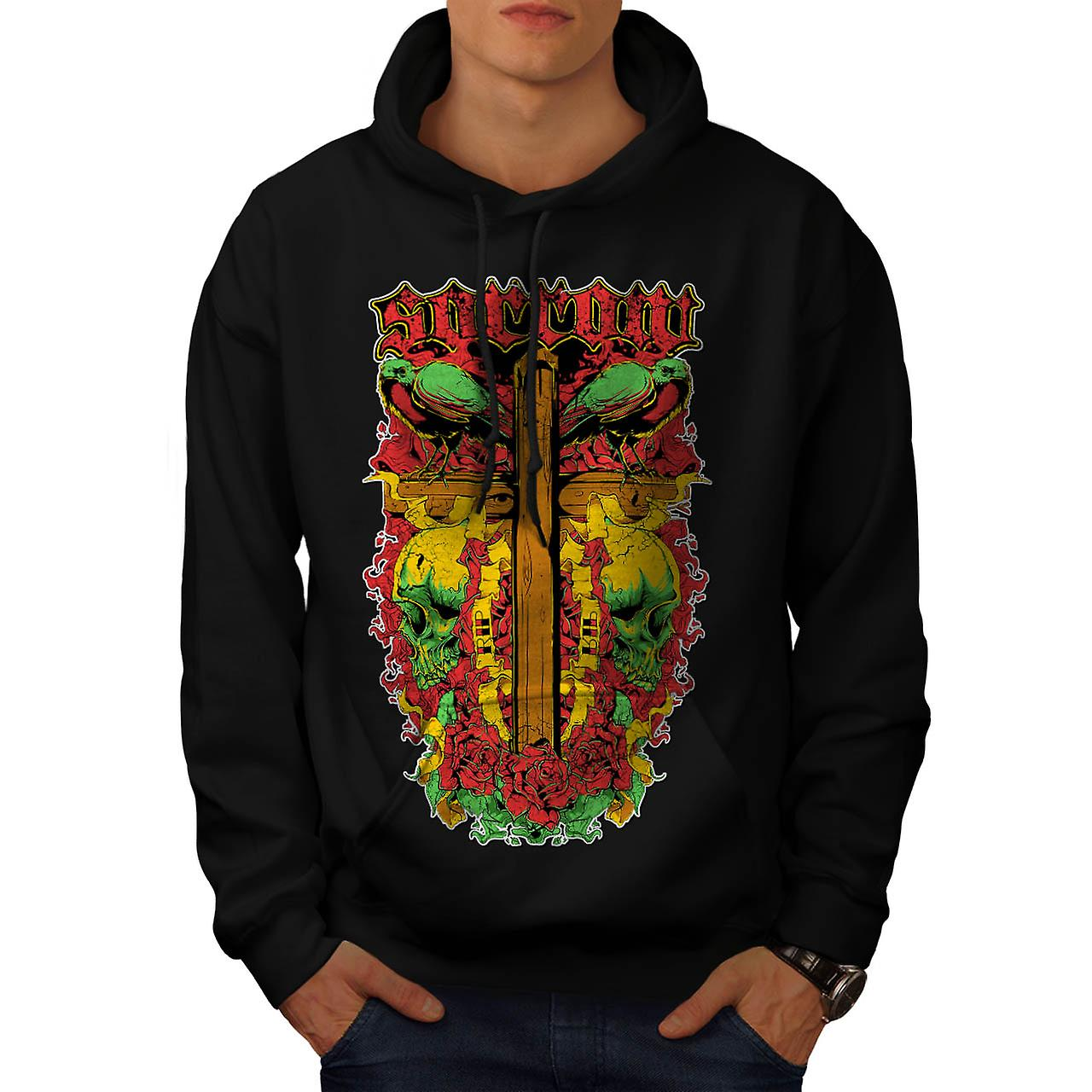 Sorrow Vintage Fantasy Men Black Hoodie | Wellcoda