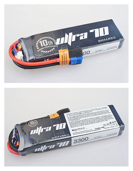 3300 mAh 70C 3s1p 11,1 v, 12 C charge