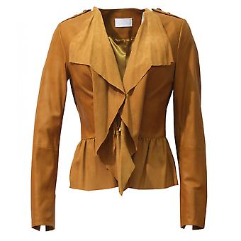 Meline - short butter-soft leather jacket women's jacket Korngold Nappiert perforated