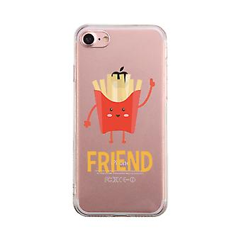 Fries Transparent Phone Case Best Friends Matching Cover