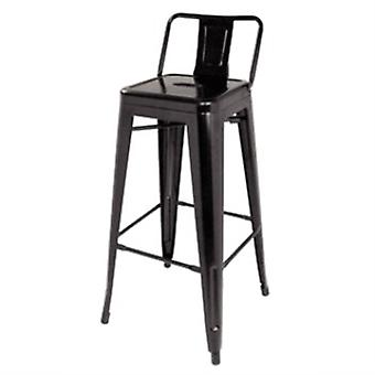Helio Steel Bar Stools With Back - Set Of 4 Fully Assembled