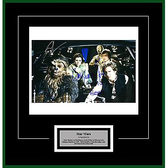 Star Wars - Signed Cast Movie Photo - Framed Artist Series