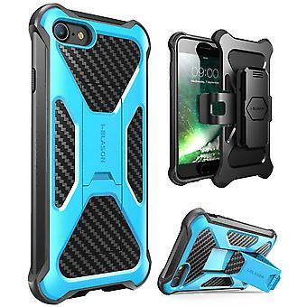 iPhone 7 Case-i-Blason-Transformer [Kickstand] Holster Case-Apple Iphone 7-Blue