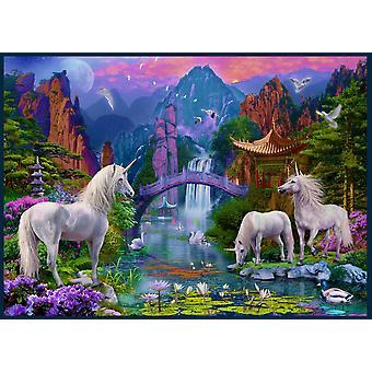 Chinese Unicorns Poster Print by Jan Patrick