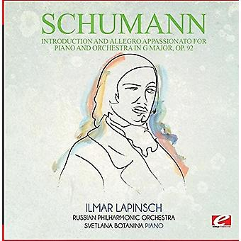 Schumann - Introduction & Allegro Appassionato for Piano [CD] USA import