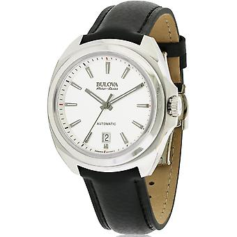 Bulova AccuSwiss Telc Automatic Leather Mens Watch 63B184