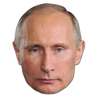 Vladimir Putin Russlands Präsident Politiker Karte Partei Gesichtsmaske
