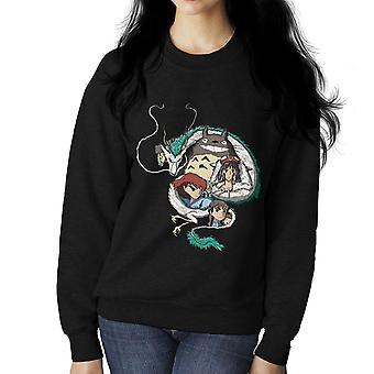 Studio Ghibli Montage Women's Sweatshirt