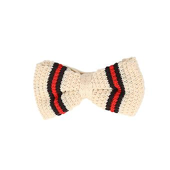 Marcell Sanders men fly loop tie cotton knitted look bound white green red