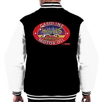 Haynes Brand J Haynes Oil Co Gasoline Motor Oil Men's Varsity Jacket