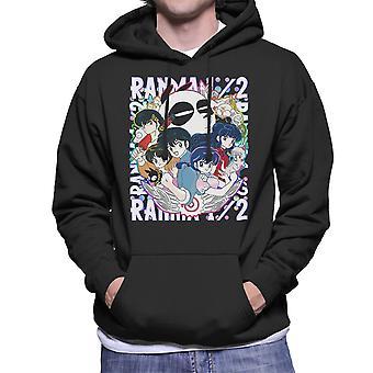 Ranma 1 2 Character Montage Men's Hooded Sweatshirt