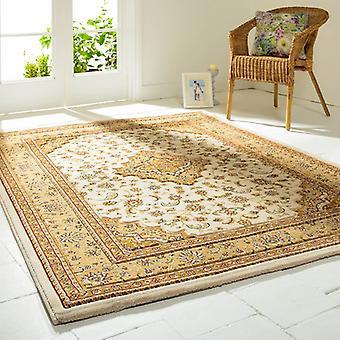 Creme de templo otomana retângulo tapetes tapetes tradicionais