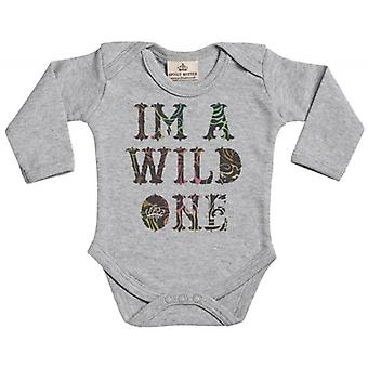 Spoilt Rotten I'm A Wild One Long Sleeve Organic Baby Grow