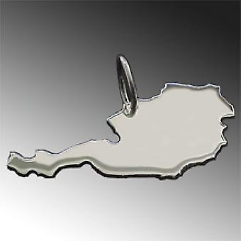 Trailer map Austria pendant in solid 925 Silver