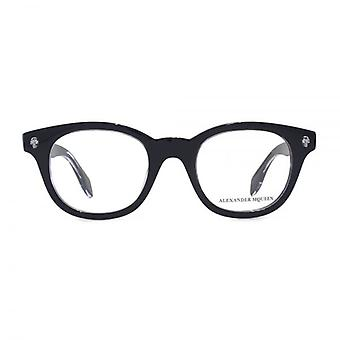 Alexander McQueen Ghost Skull AM0027 Glasses In Black
