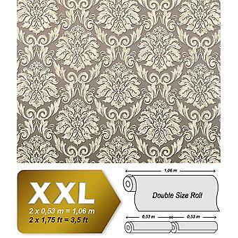 Baroque wallpaper EDEM 9014-32 non-woven wallpaper bronze embossed ornaments shiny beige cream white with 10.65 m2