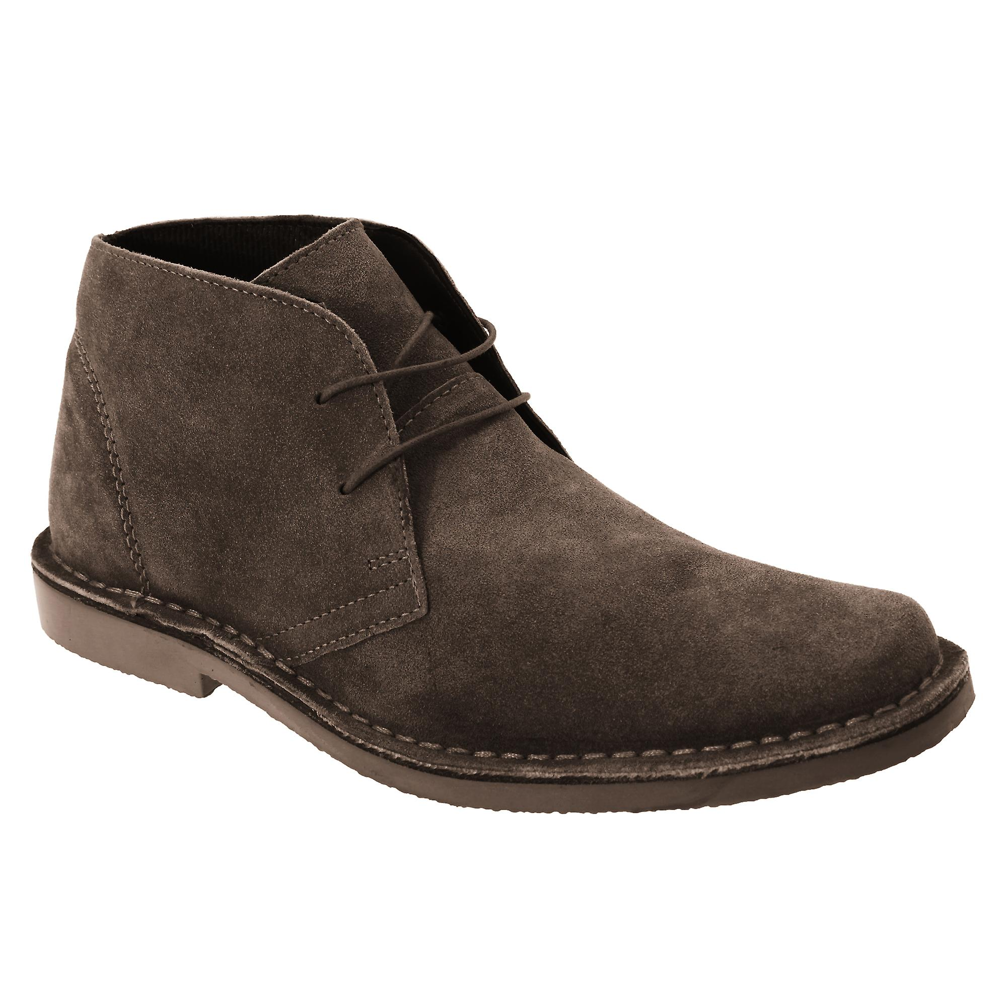 Roamers Mens Real Suede Classic Desert Boots