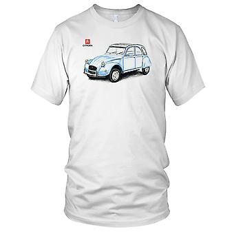 Citroen 2CV Classsic auto Sketch Kids T Shirt