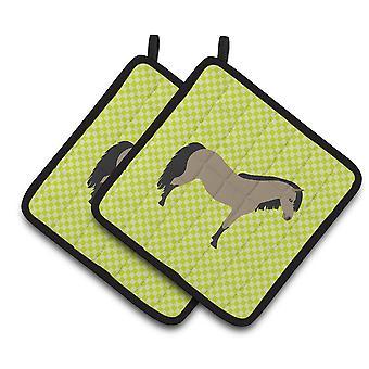 Carolines skarby BB7736PTHD walijski kucyk konia Zielona para łapki