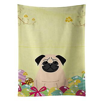 Carolines Treasures  BB6008KTWL Easter Eggs Pug Fawn Kitchen Towel