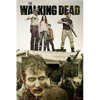 Walking Dead Attack Poster Poster Print