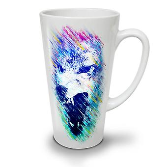 Wolf Face Angry NEW White Tea Coffee Ceramic Latte Mug 17 oz | Wellcoda