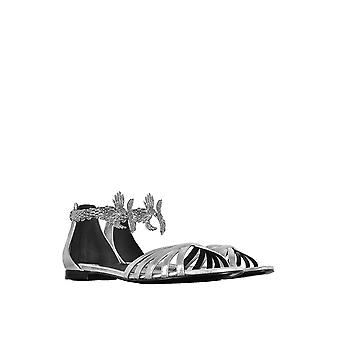Roberto Cavalli women's EQS430PN0120550136 silver leather sandals