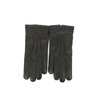 Salvatore Ferragamo men's 0622327 black leather gloves