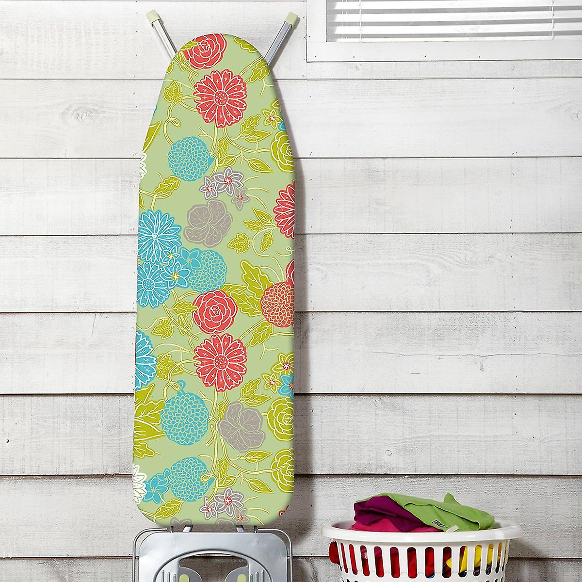 JML Fast Fit Ironing Board Cover Ultimate - Pressed Flowers
