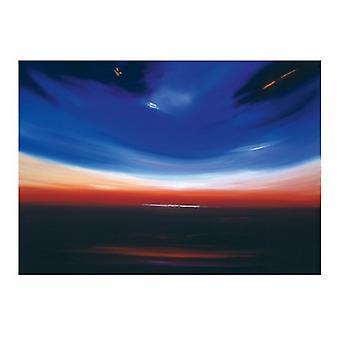 Stampa del manifesto del pianeta blu di Debra Stroud (32 x 24)