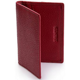 Dents Pebble Grain RFID Card Holder - Berry