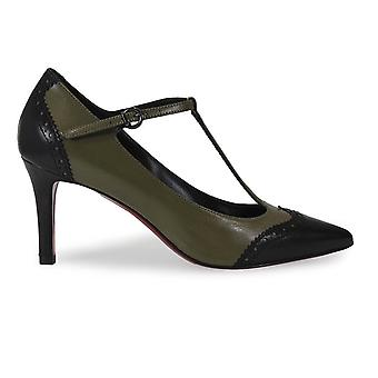 Franco Colli ladies FC250365 green leather pumps