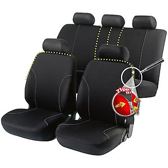 Allessandro Car Seat Cover Zipp-It-Black For Toyota AVENSIS Saloon 2003-2008