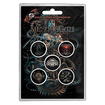 Meshuggah Badge Pack Vilent Sleep of Reason Band Logo Official 5 x Pin Button
