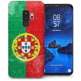 Samsung Galaxy S9 Plus Retro Portugal Flag TPU Gel Case – Green