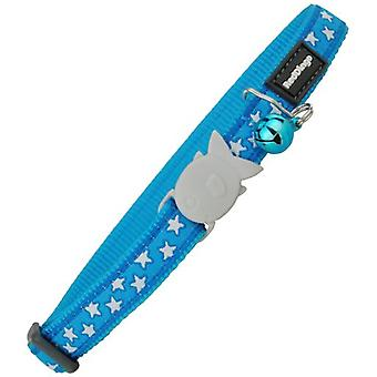 Red Dingo Cat Collar Stars Turquoise (Cats , Collars, Leads & Harnesses , Collars)
