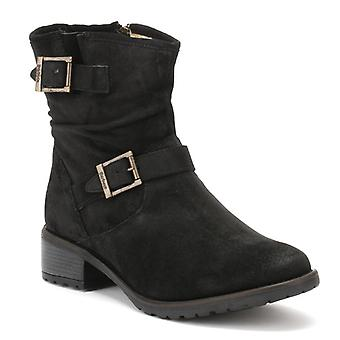 Barbour Womens Black Waxy Hampstead Boots