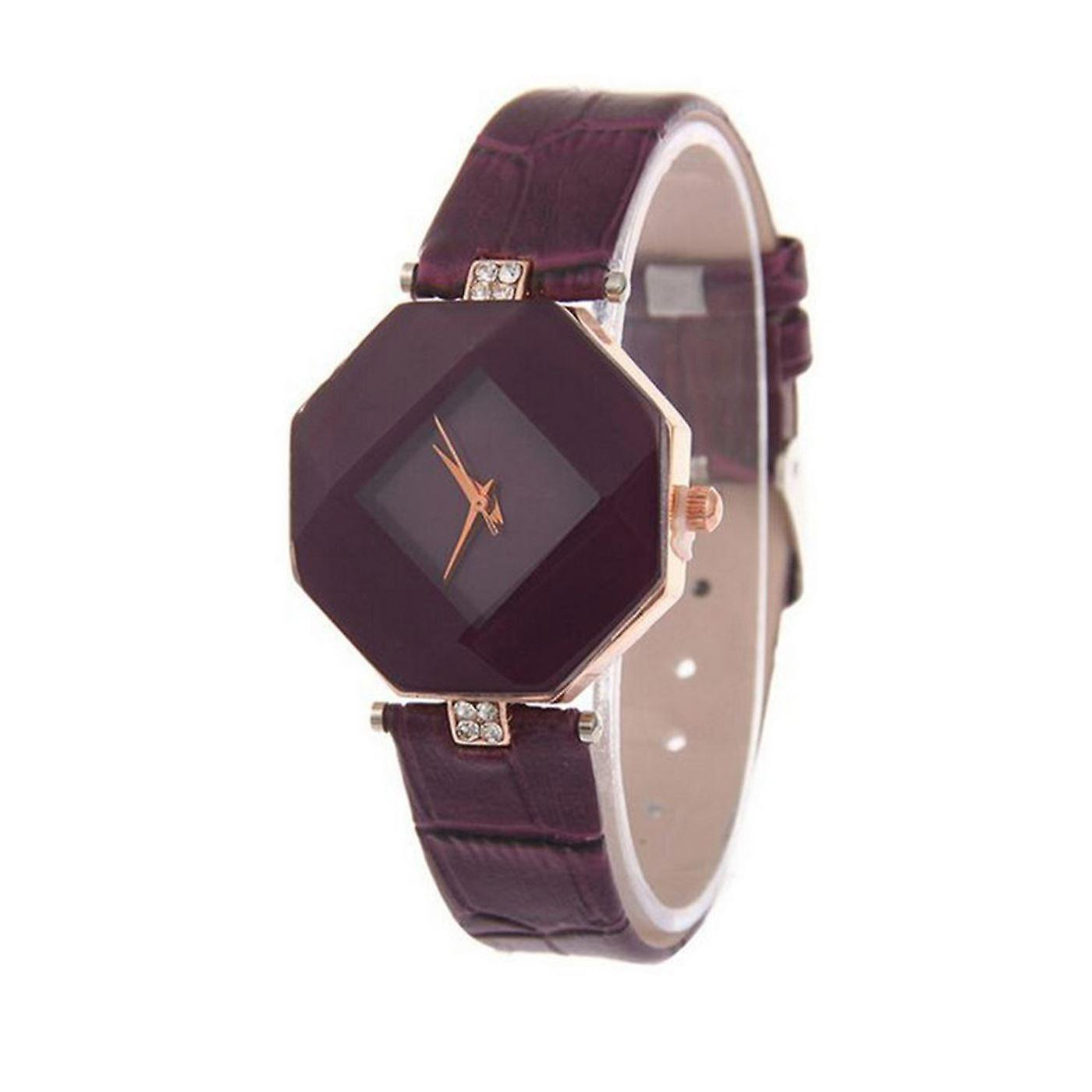Smart Diamond Shape Watch Purple Jewel